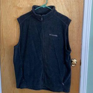 Columbia fleece vest dart grey